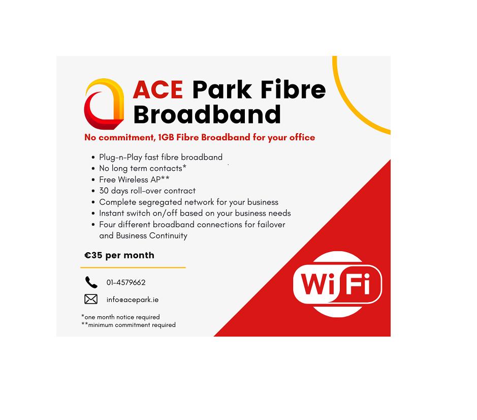 ACE Park Fibre Broadband Offer